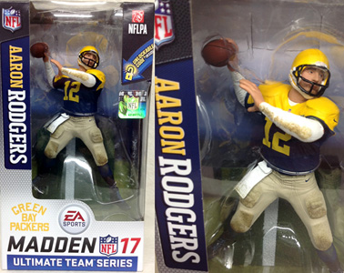 NFL グッズ 通販 上野 MADDEN NFL17 ULTIMATE TEAM SERIES 2 #12 AARON RODGERS GreenBay Packers