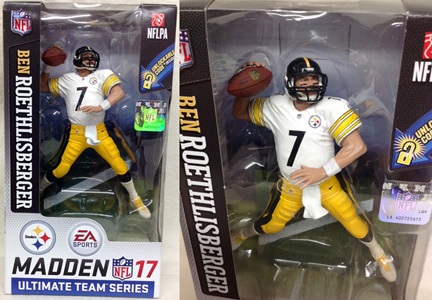 NFL グッズ 通販 上野 MADDEN NFL17 ULTIMATE TEAM SERIES 2 #7 BEN ROETHLISBERGER Pittsburgh Steelers
