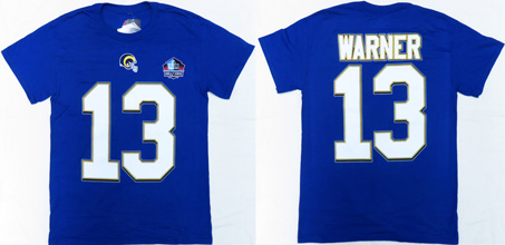 NFL Pro Football Hall of Fame St.Louis Rams Kurt Warner ( カート・ワーナー )背番号Tシャツ